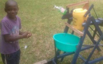 Kenyan boy wooden dispenser feat.