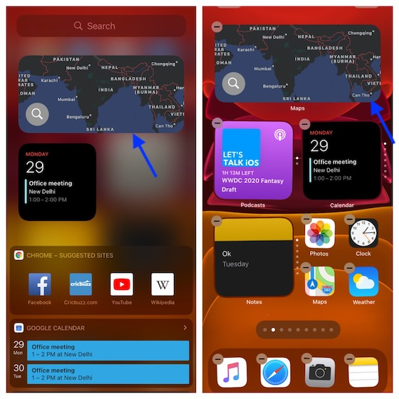 Pin Today View widgets on the Home screen