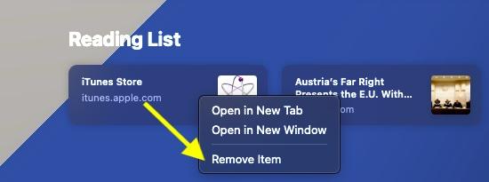Remove item