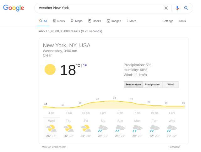 Get live Weather Information