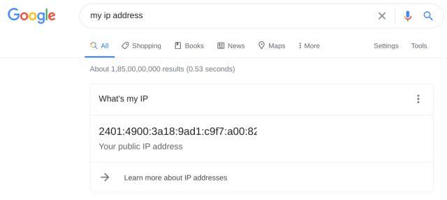Know your IP Address