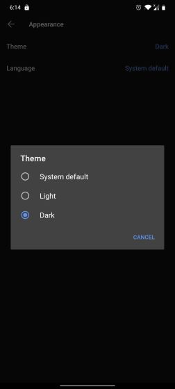 13. Enable Dark Mode Best Signal App Tips and Tricks