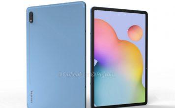 Samsung Galaxy Tab S7 renders