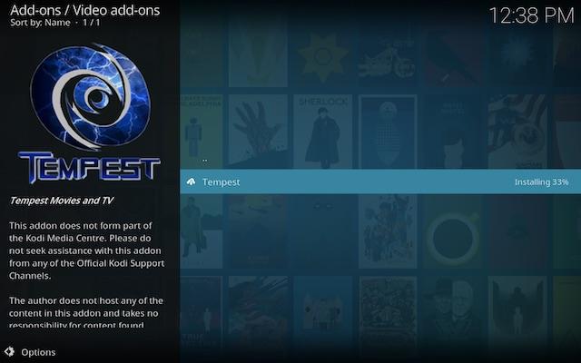 Tempest Kodi add-on