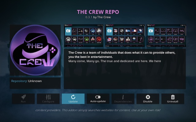 The Crew add-on