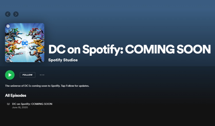 dc on spotify
