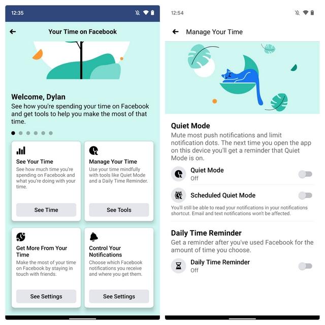 facebook quiet mode android