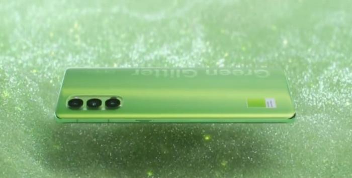 oppo reno4 green glitter