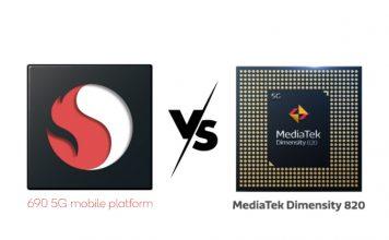 snapdragon 690 vs mediatek dimensity 820