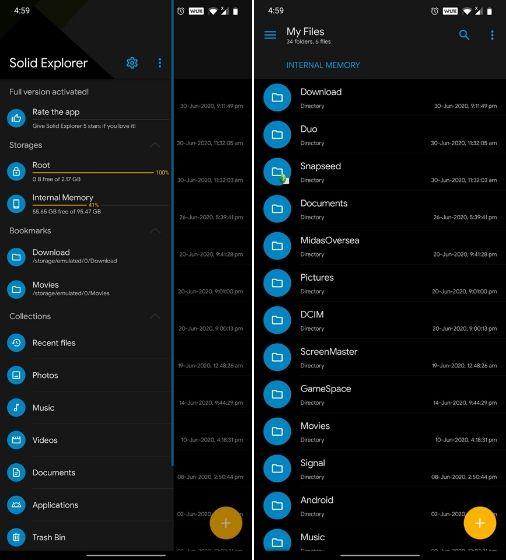 solid explorer Best ES File Explorer Alternative Apps