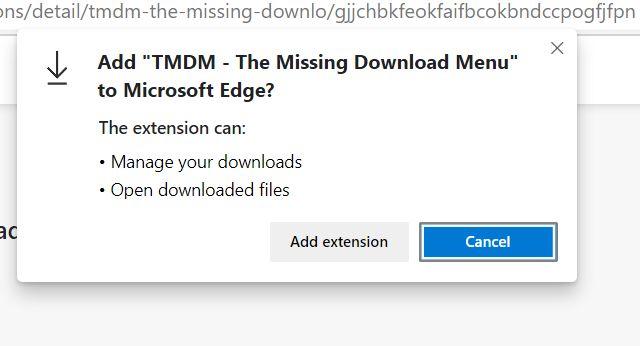 Добавить меню загрузки в Microsoft Edge