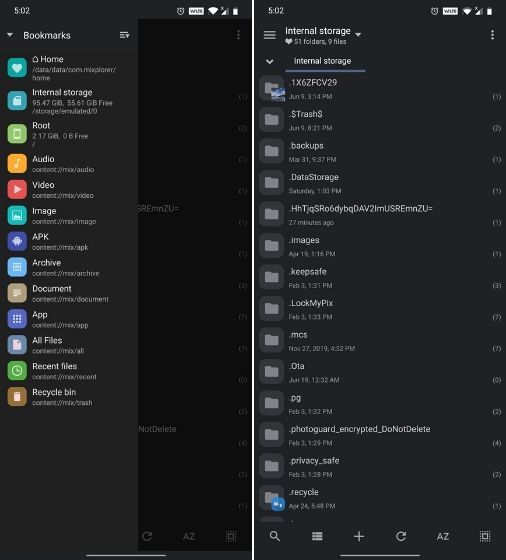 5. MiXplorer Best ES File Explorer Alternative Apps
