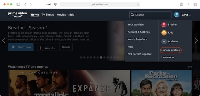 Add Multiple Profiles on Prime Video 3