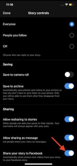 Automatically share Instagram Reels on Facebook