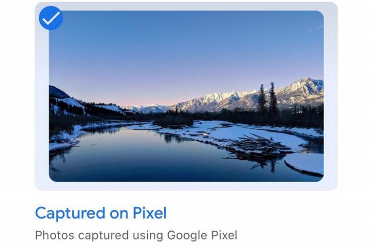 Captured on Pixel website