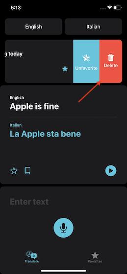 Delete translation