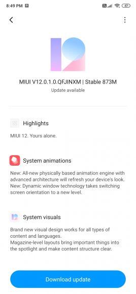 redmi k20 update