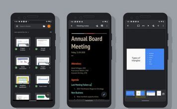 Google Adds Dark Mode for Docs, Sheets, and Slides on Android