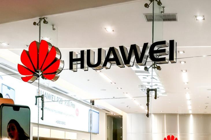 Huawei logo storefront shutterstock website