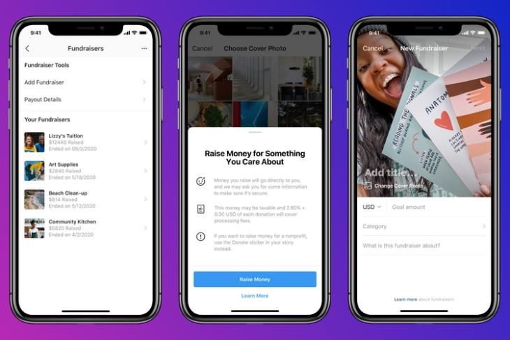 Instagram Testing Personal Fundraisers in the US, UK, and Ireland
