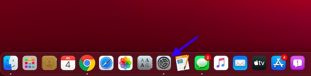 Launch Settings app on Mac