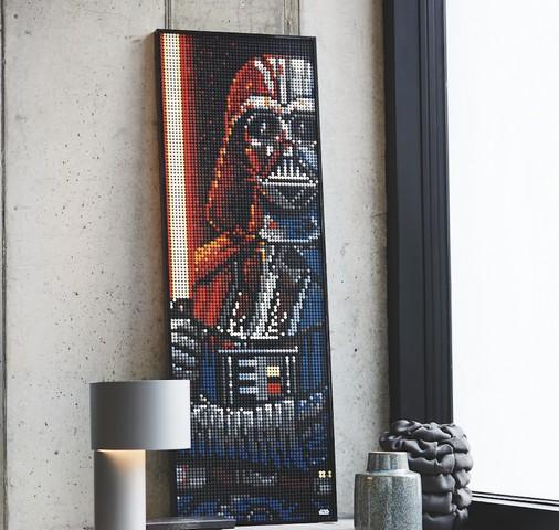 Lego art Darth Vader