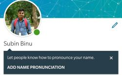 LinkedIn Now Lets You Record and Display Your Name's Pronunciation