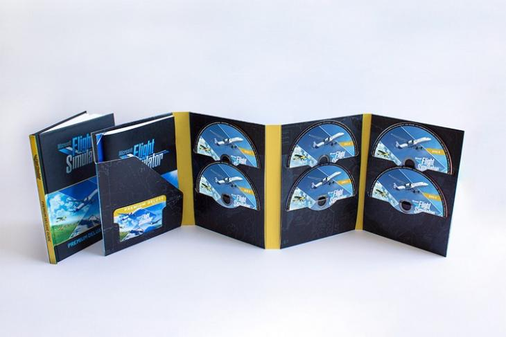 Microsoft Flight Sim physical edition 10 DVDs feat.