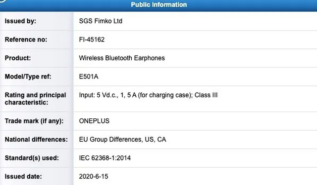 OnePlus Buds Get Certified; Might Launch July 21 With OnePlus Nord