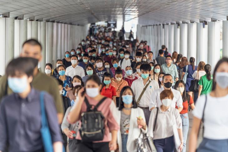 People wearing masks shutterstock website