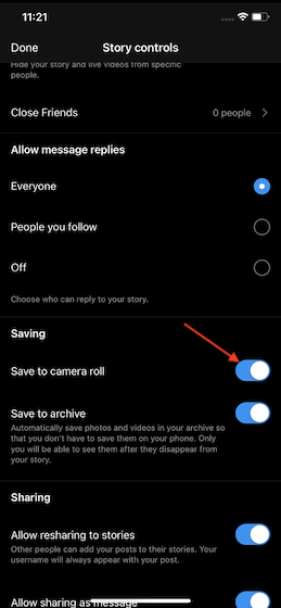 Save Instagram Reels to Camera Roll