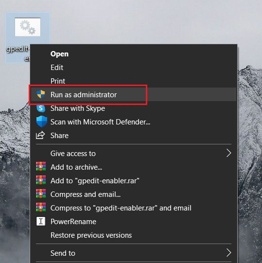 Enable Group Policy Editor on Windows 10 Home Edition