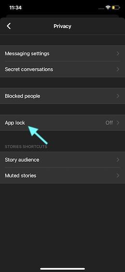 Select App lock