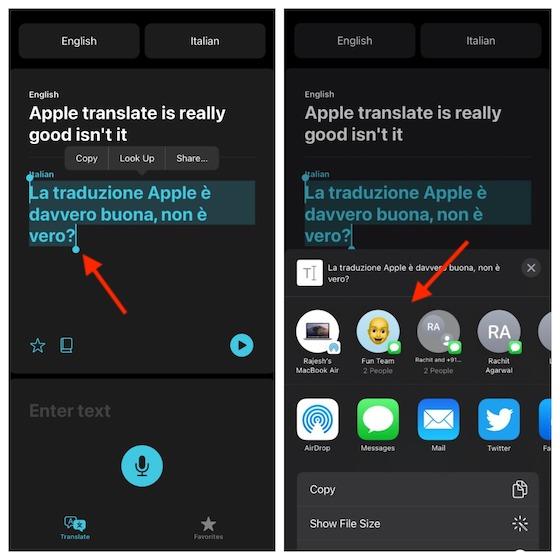 Share your translation