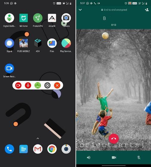 Nehmen Sie WhatsApp-Anrufe auf Android auf