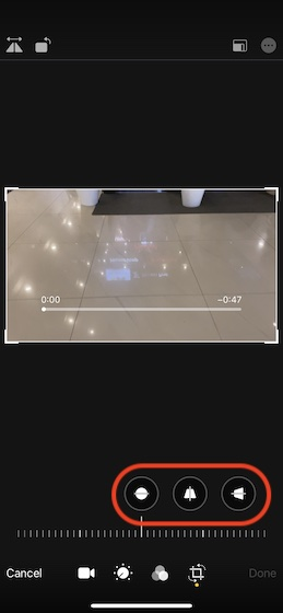 Use the video alignment tools