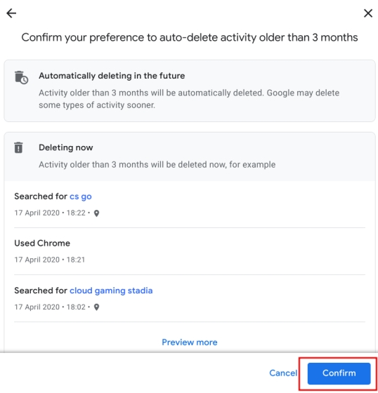 How to Auto-Delete Web and Location History on Google