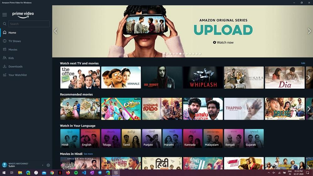 amazon prime video app win10