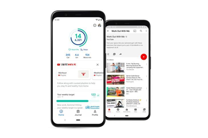 google fit youtube workout playlists integration