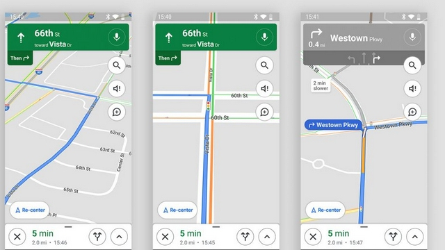 google maps traffic lights