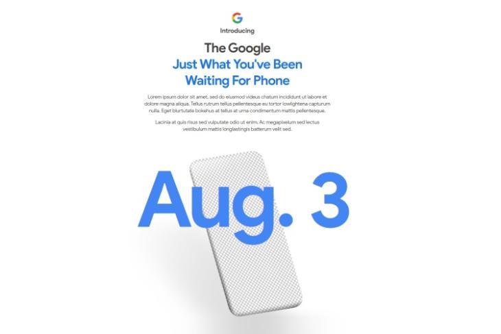 google pixel 4a teaser - launch date