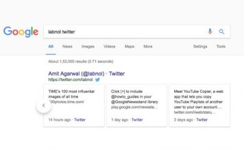 google search twitter carousel