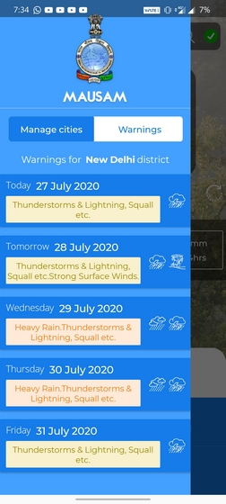 mausam warnings