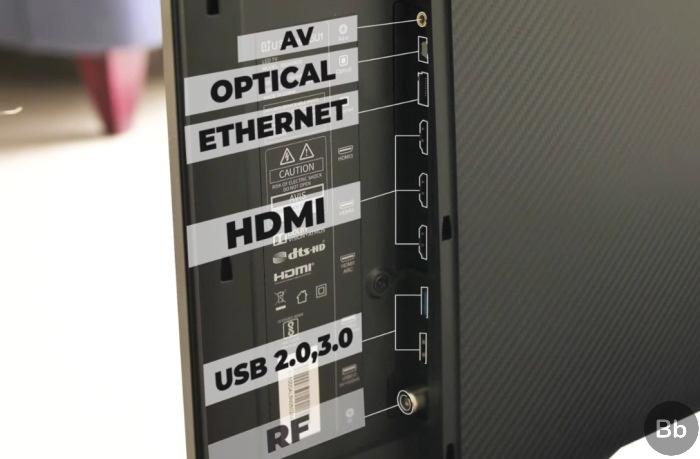 55-inch oneplus TV ports