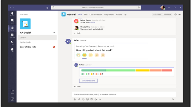Microsoft Teams reflect messaging extension
