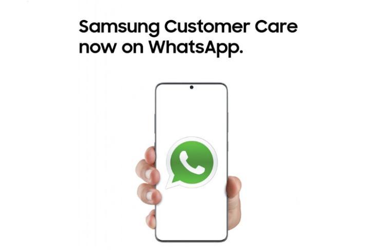 samsung customer care whatsapp