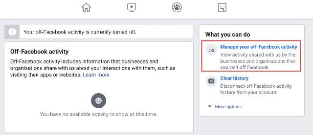 Remove Your Off-Facebook Activity