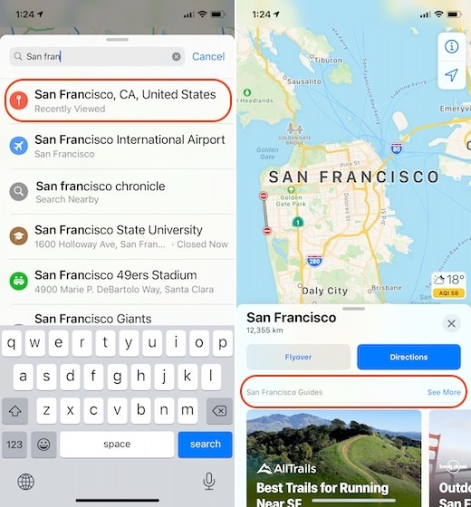1. Use the New Guides Feature in Apple Maps