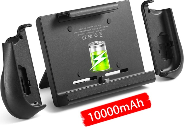 10000mAh Battery Charger Case for Nintendo Switch, YOBWIN