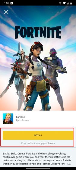 Install Fortnite on Android Without Play Store